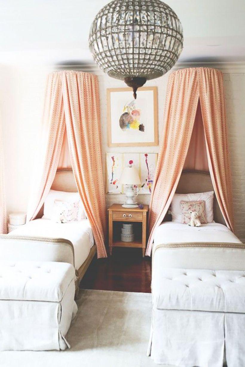 lit jumeaux chambre enfant deco