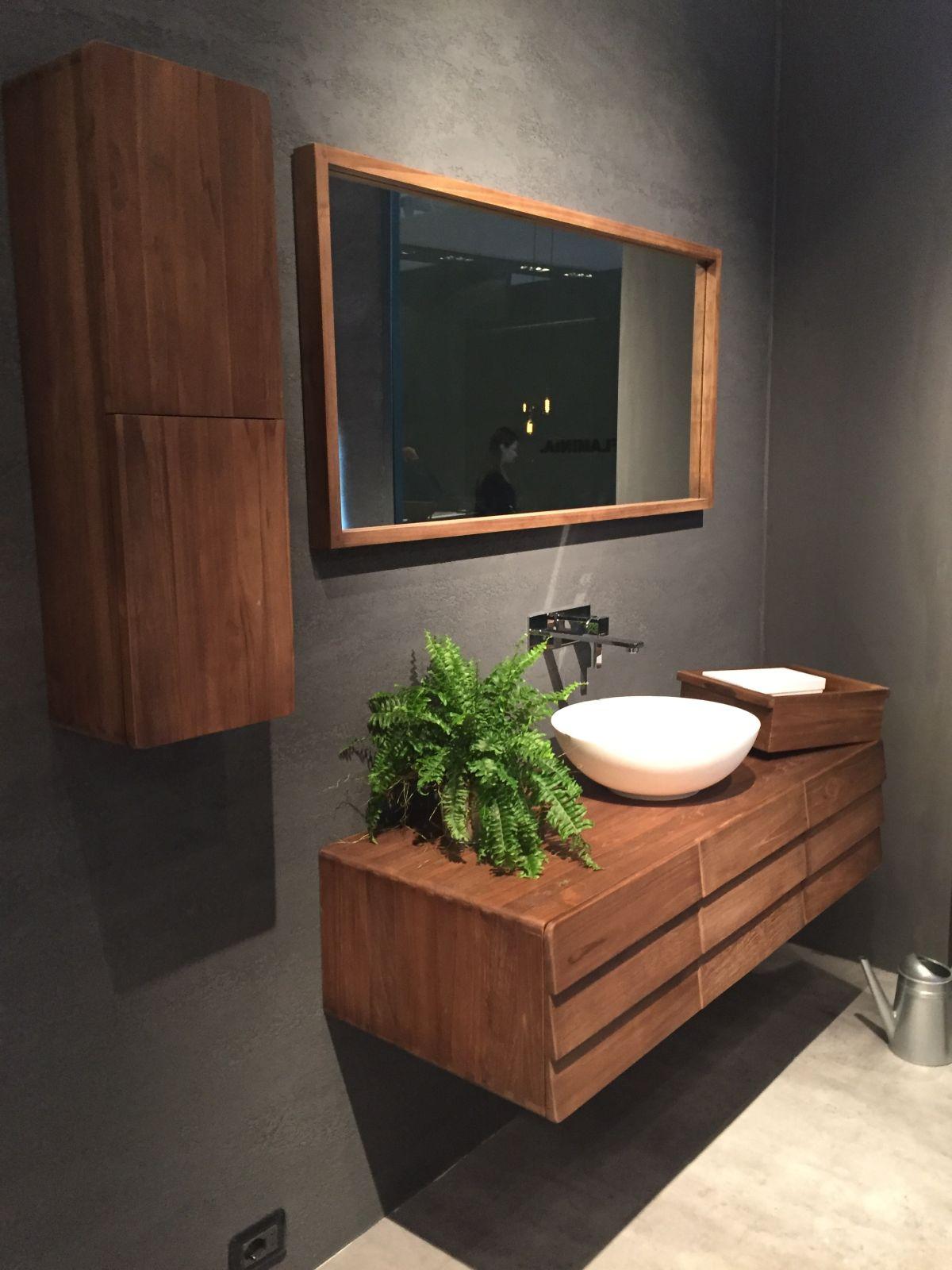 meuble salle de baun bois fonce