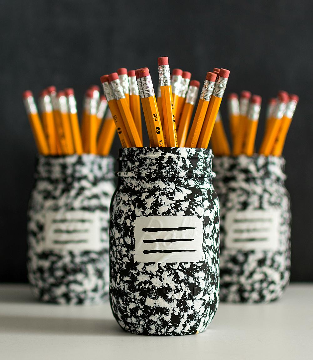 pot a crayon recup bocal
