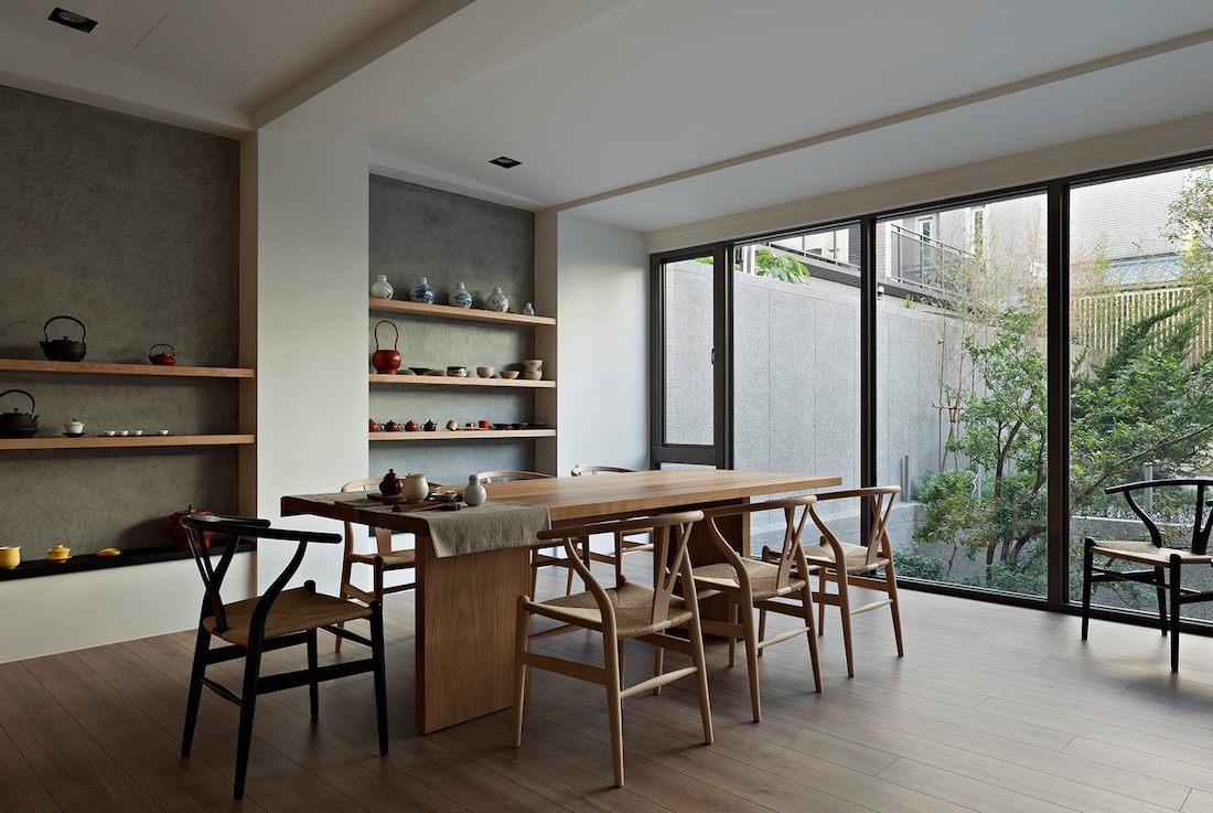 salle a manger inspiration japandi