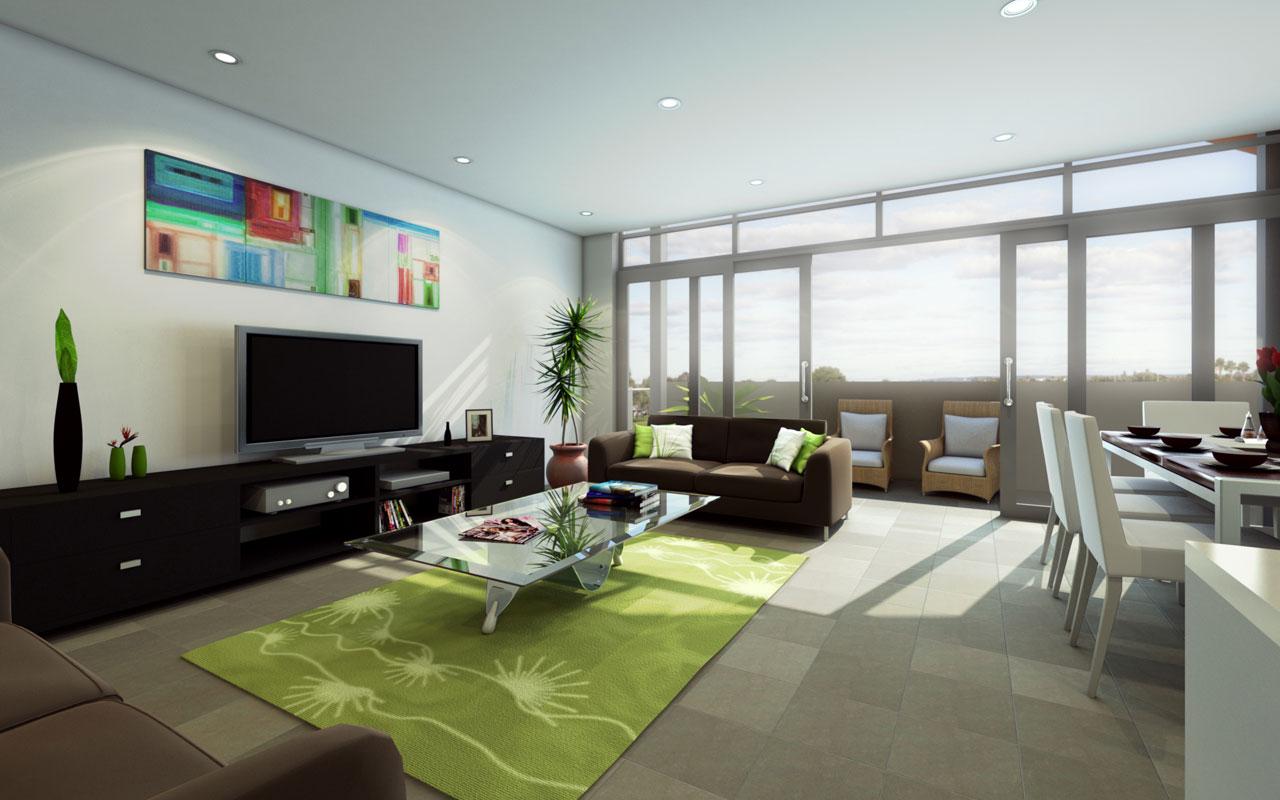 tapis deco salon vert