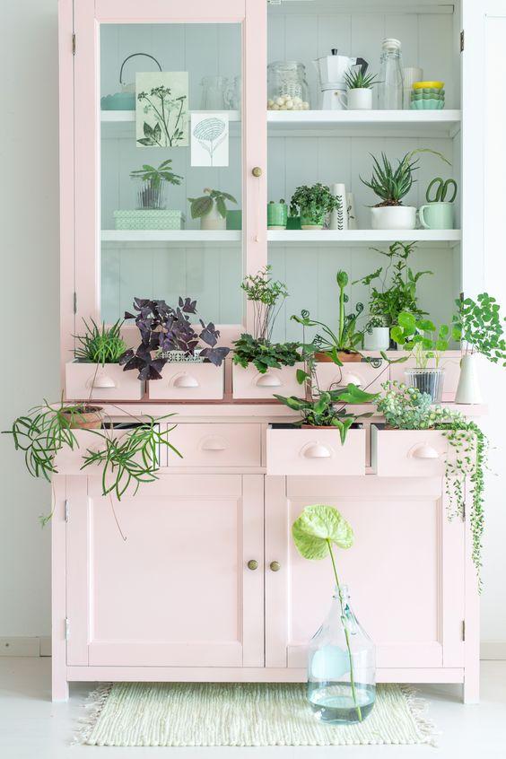 vaisselier diy rose et plantes