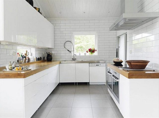 cuisine idee renovation carrelage bois