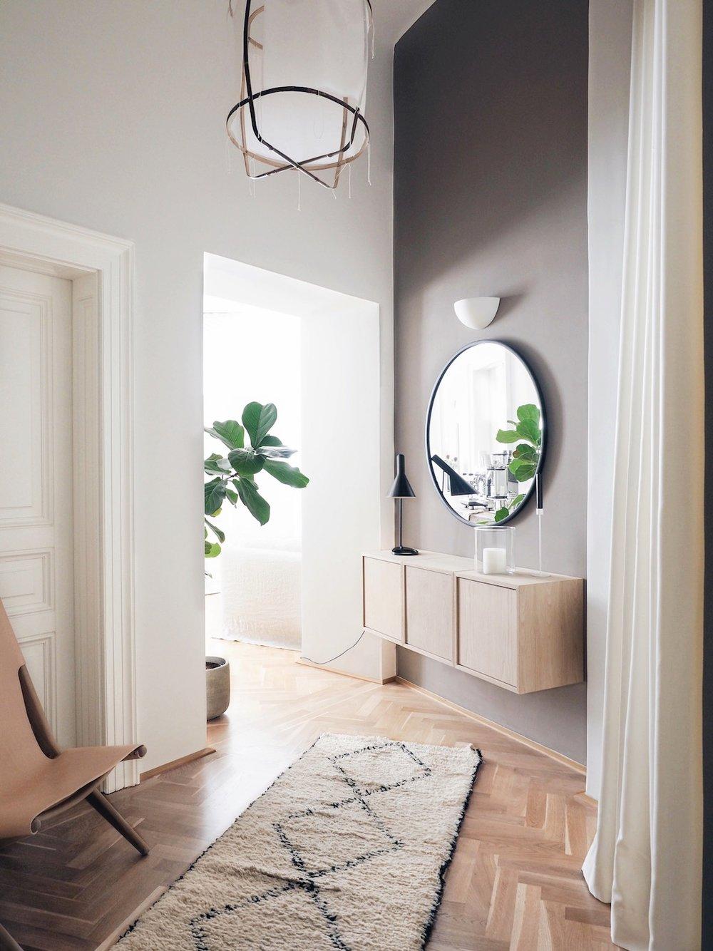 couloir deco minimaliste chaleureuse