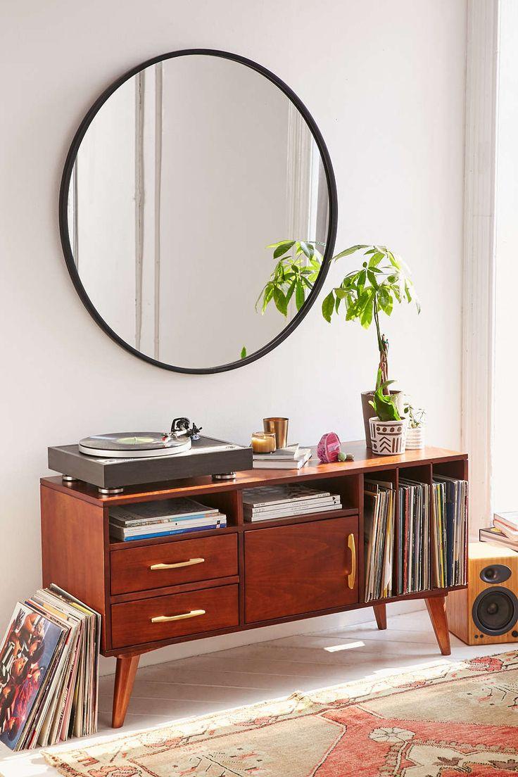 deco salon vintage miroir rond tendance