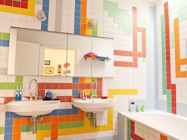 Idées déco] Pour une salle de bain familiale | Cocon - déco ...