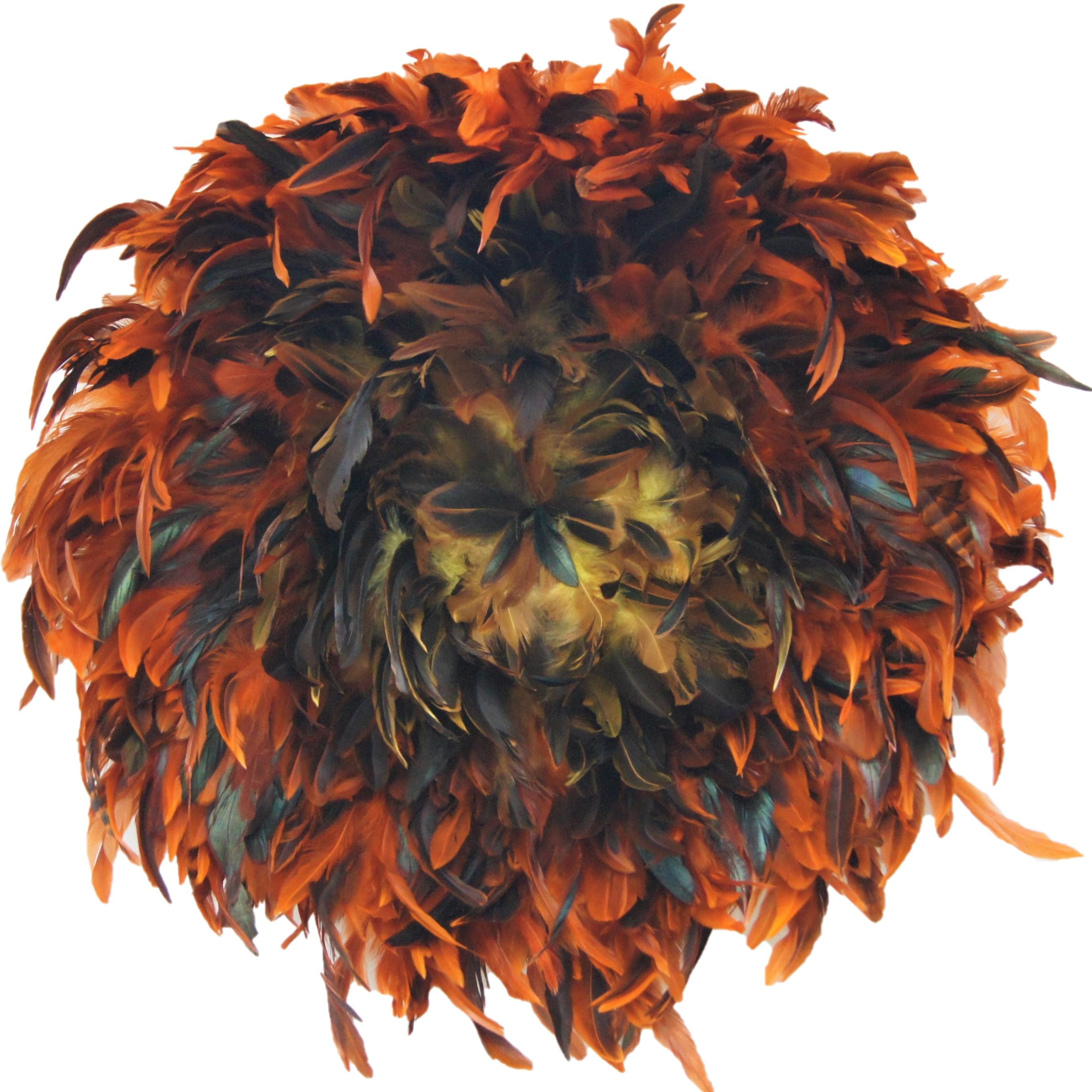 my juju hat plume orange