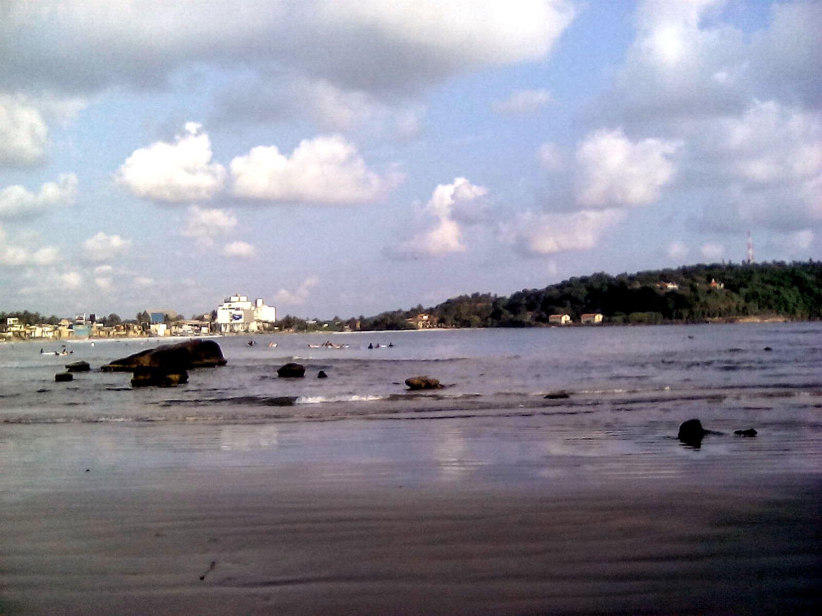 plage de galle sur sri lanka