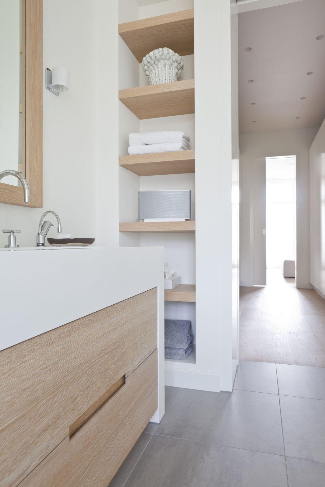 salle de bain minimaliste inspiration rangement