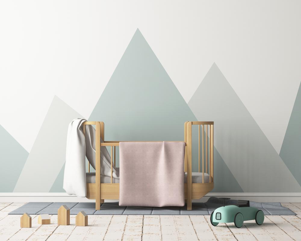 berceau bebe decoration chambre pastel minimaliste