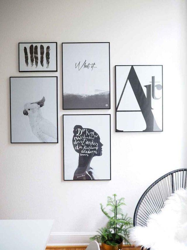 cadre decoration noir et blanc