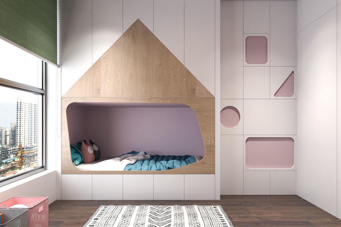 chambre enfant epuree et minimaliste