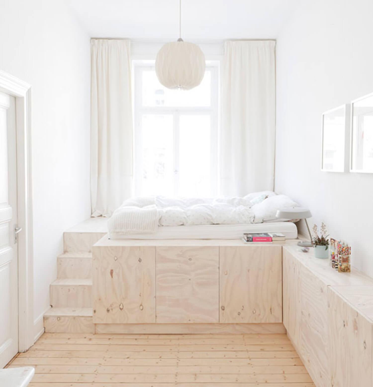 chambre enfant minimaliste lit rangement