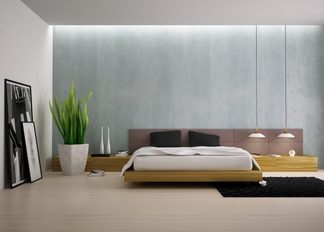 decoration chambre moderne rangement style minimaliste