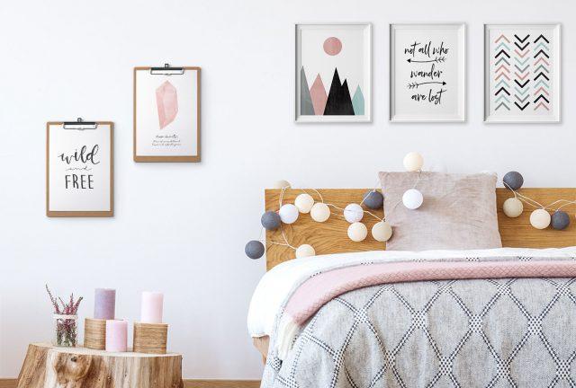 decoration chambre scandinave gain de place idee conseils