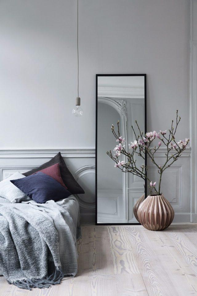 decoration gain de place chambre ambiance neutre et épuré minimaliste