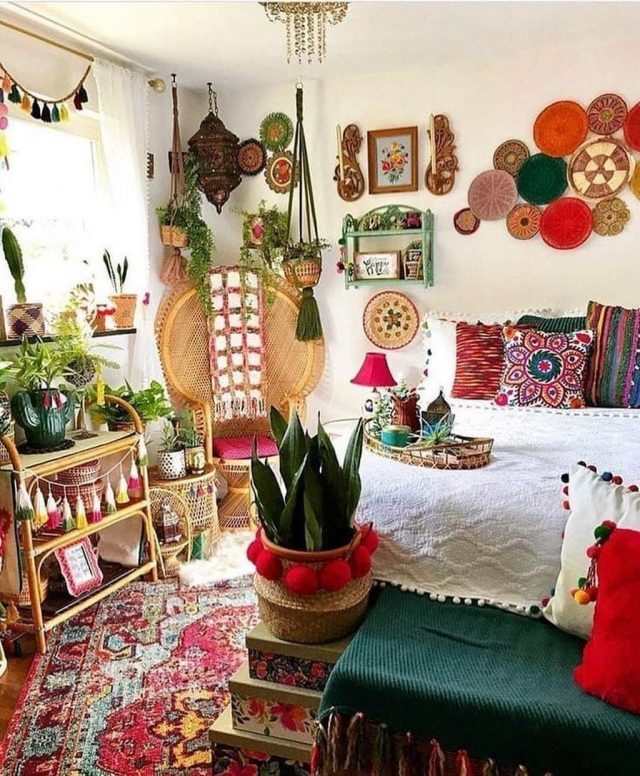 decoration murale boho chic et coloree