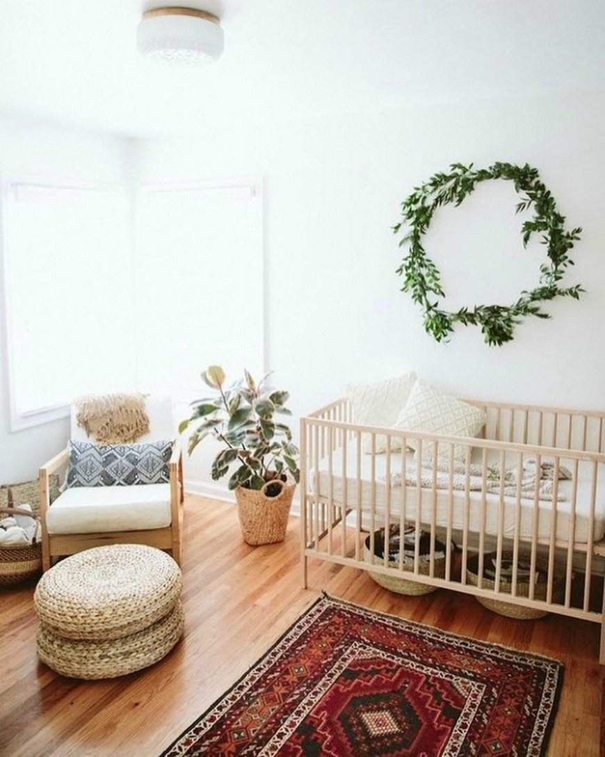 jolie chambre enfant plante minimaliste