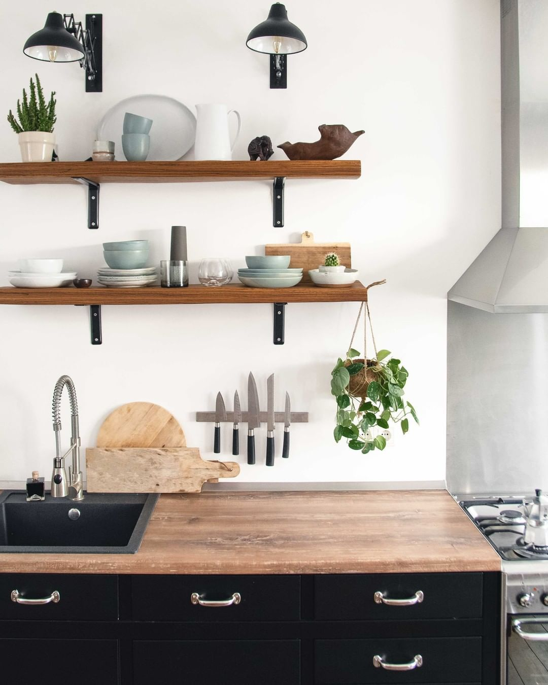 minimalisme cuisine rangement idee