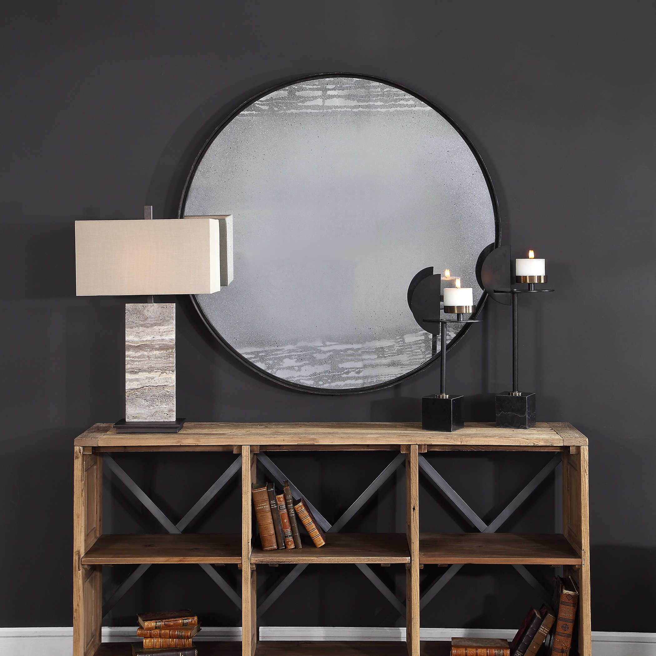 miroir rond decoration murale idee