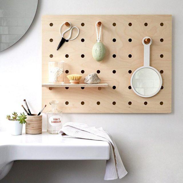 pegboard decoration salle de bain