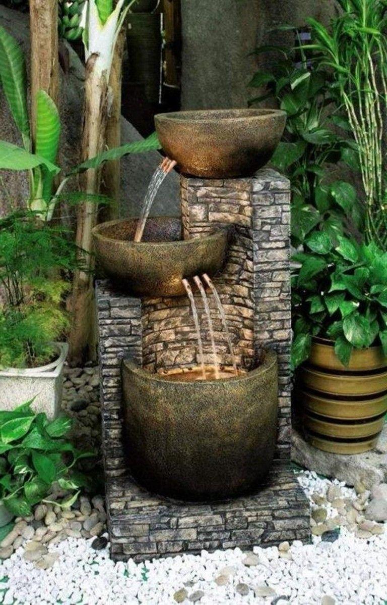 petite fontaine deco jardin metal