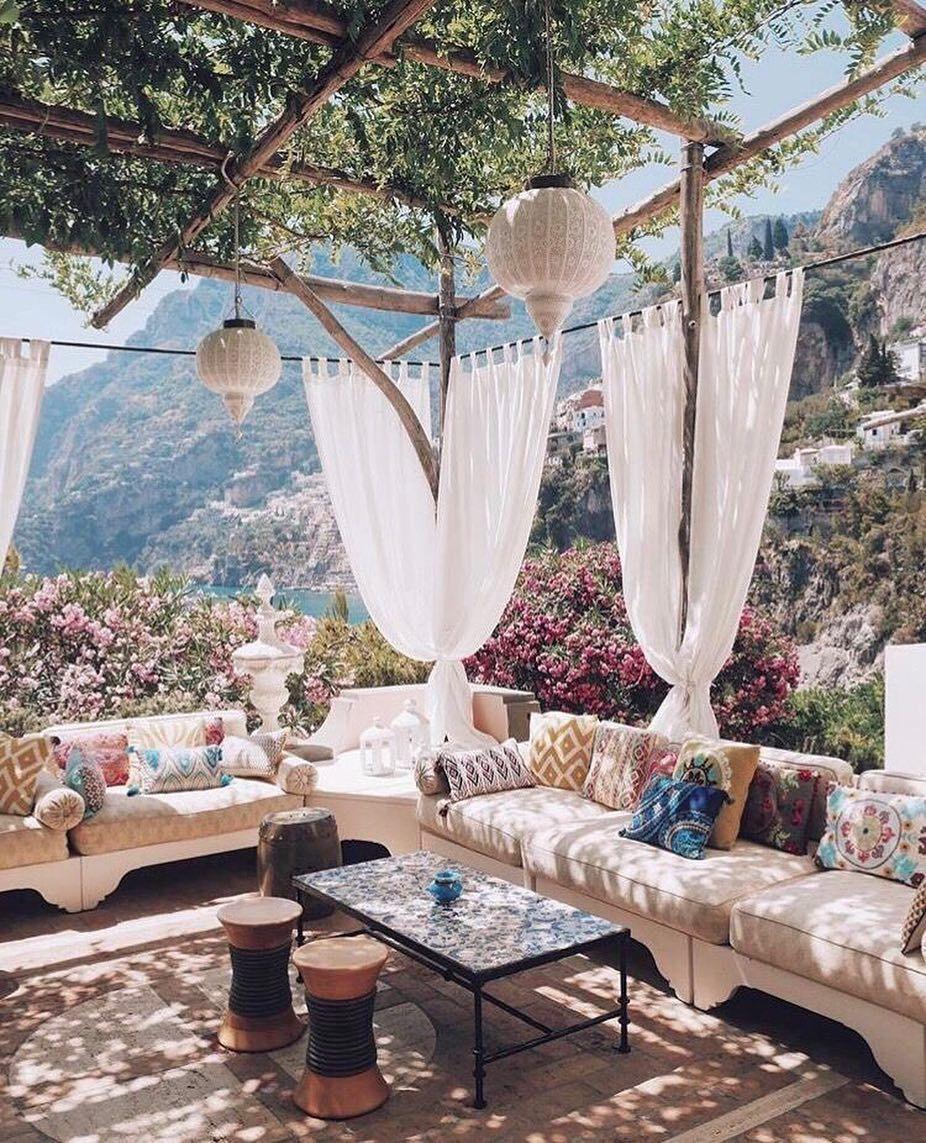 rideau deco balcon boheme