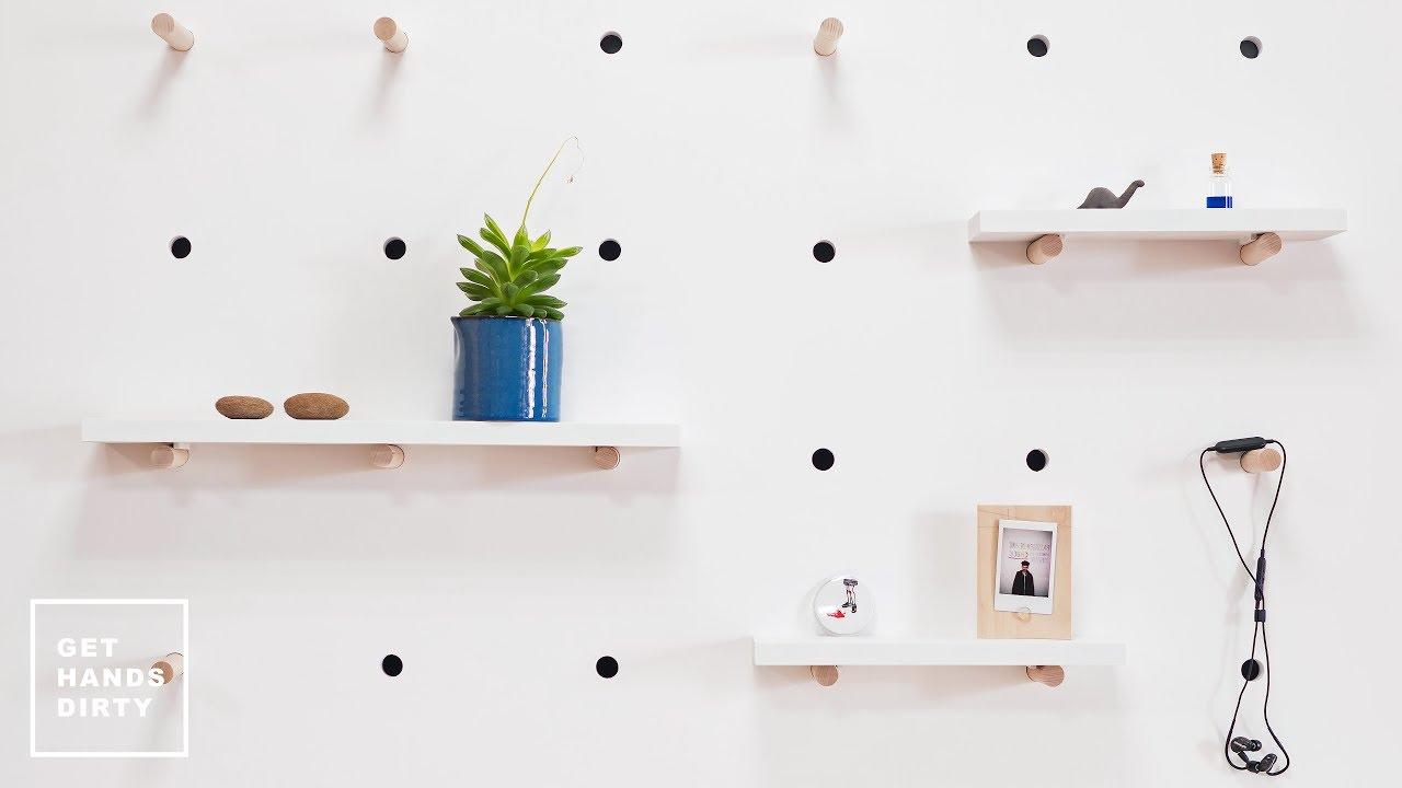 detail pegboard balnc rangement malin minimaliste maison