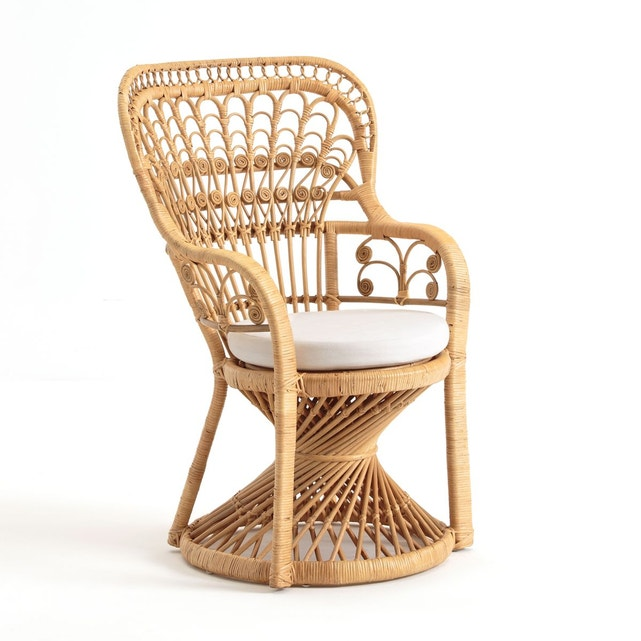 fauteuil vintage en rotin