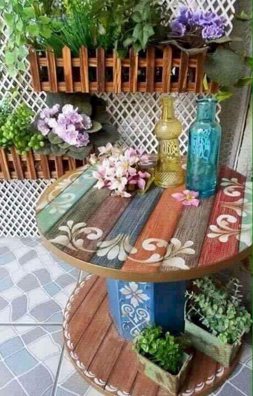idee deco salon de jardin recup