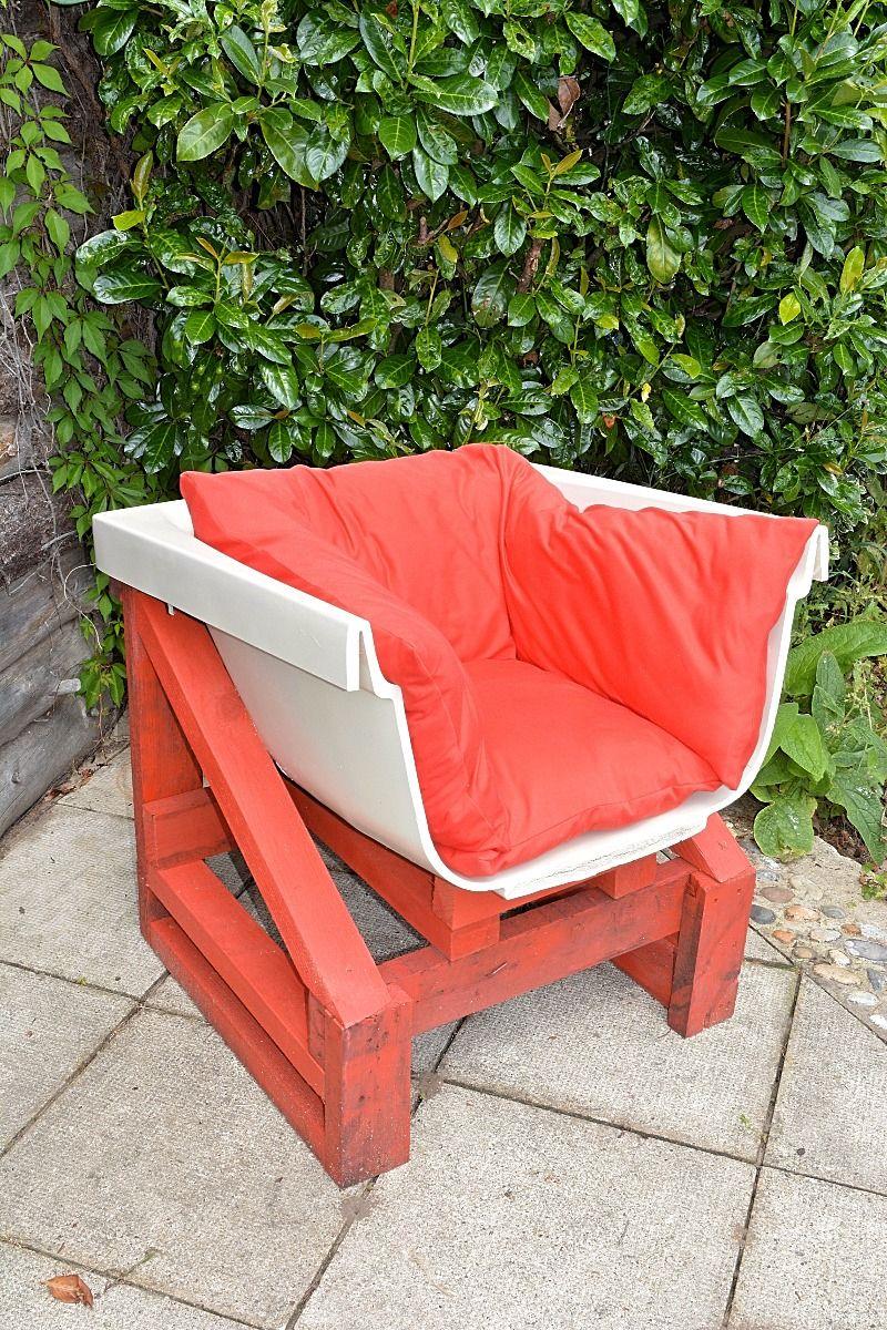 jardin recup baignoire fauteuil