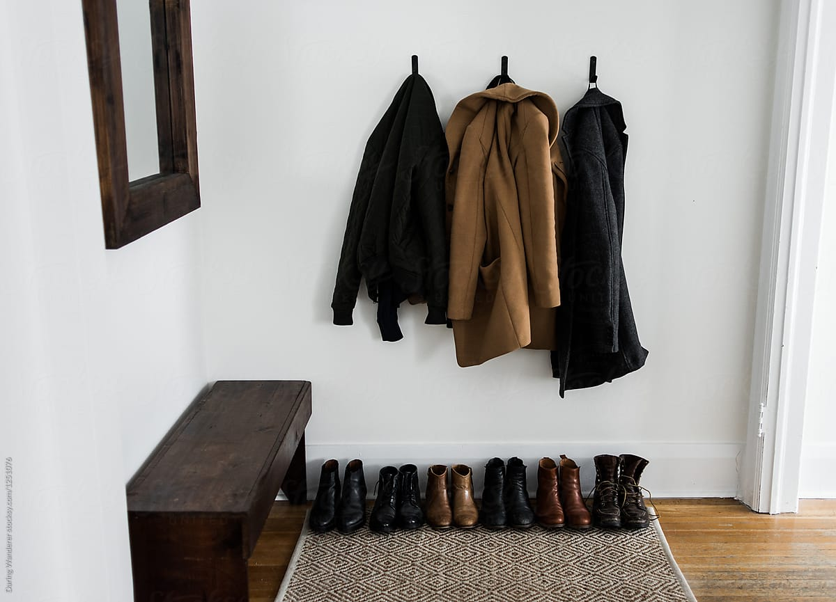 rangement organisation entree minimaliste