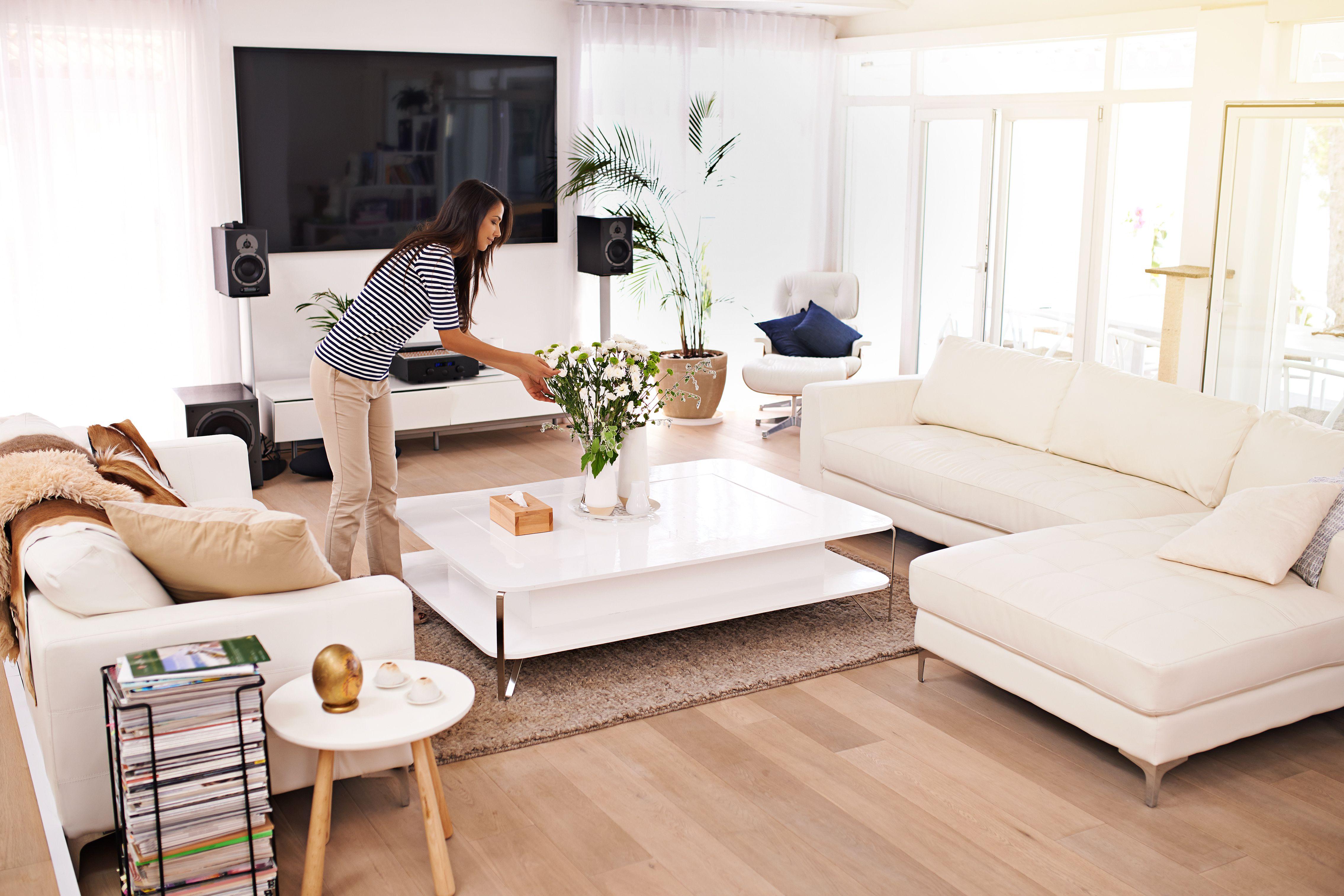 salon minimaliste tendance desencombrement