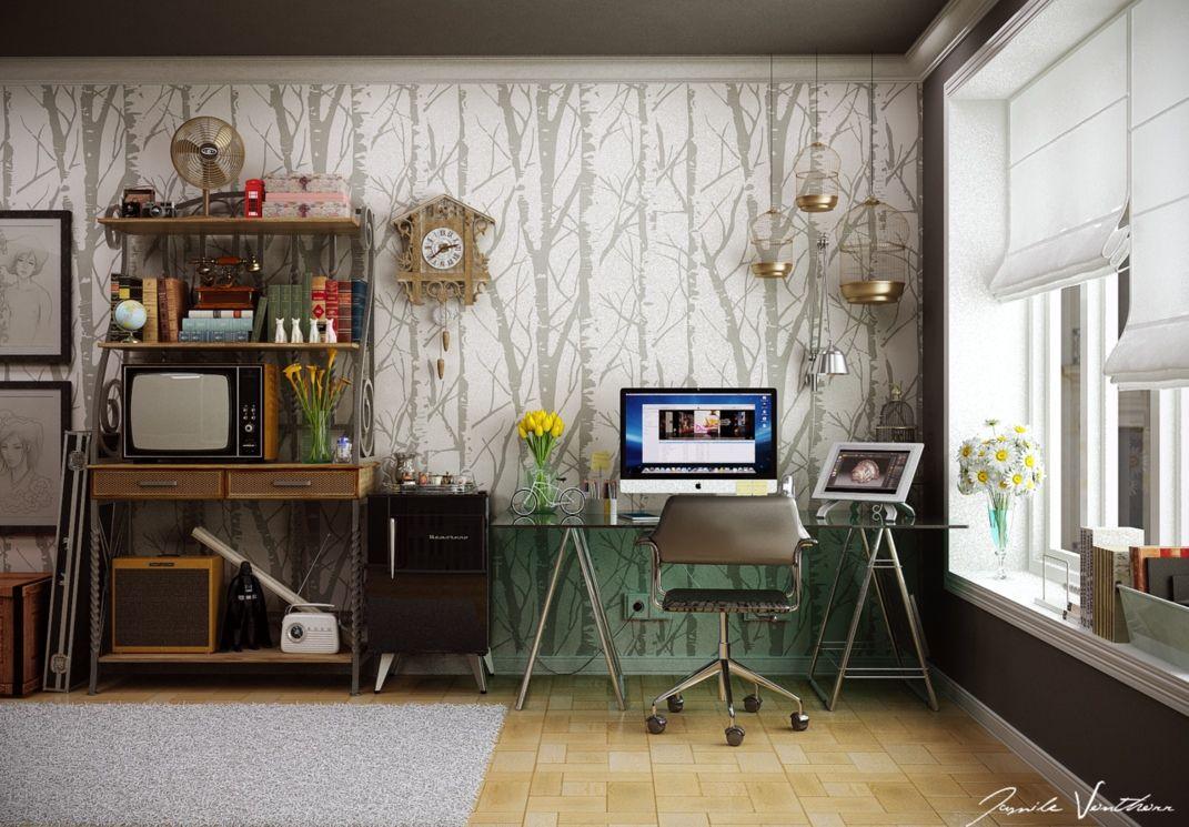 amenagement espace de travail maison
