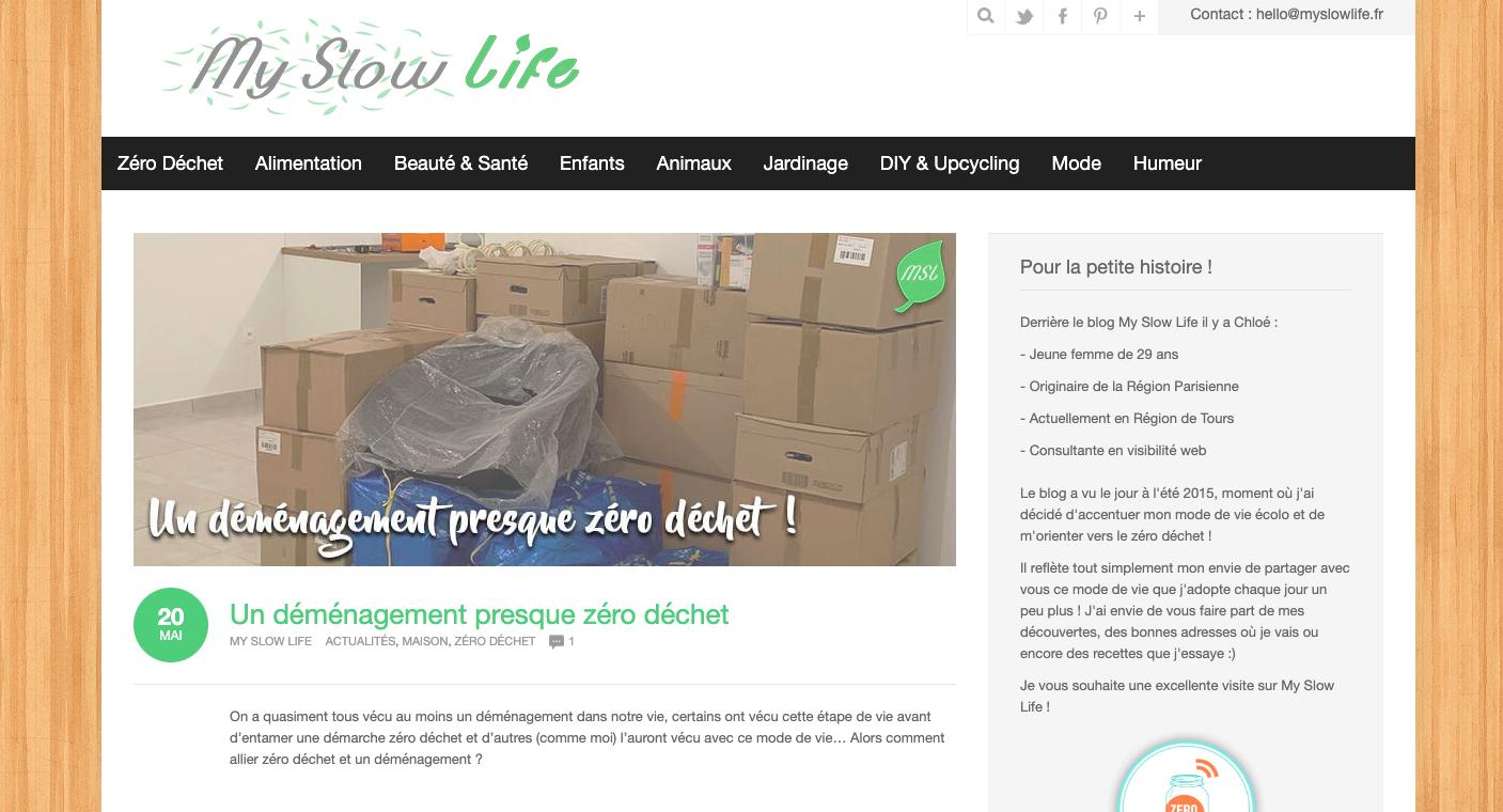 blog diy zero dechet my slow life