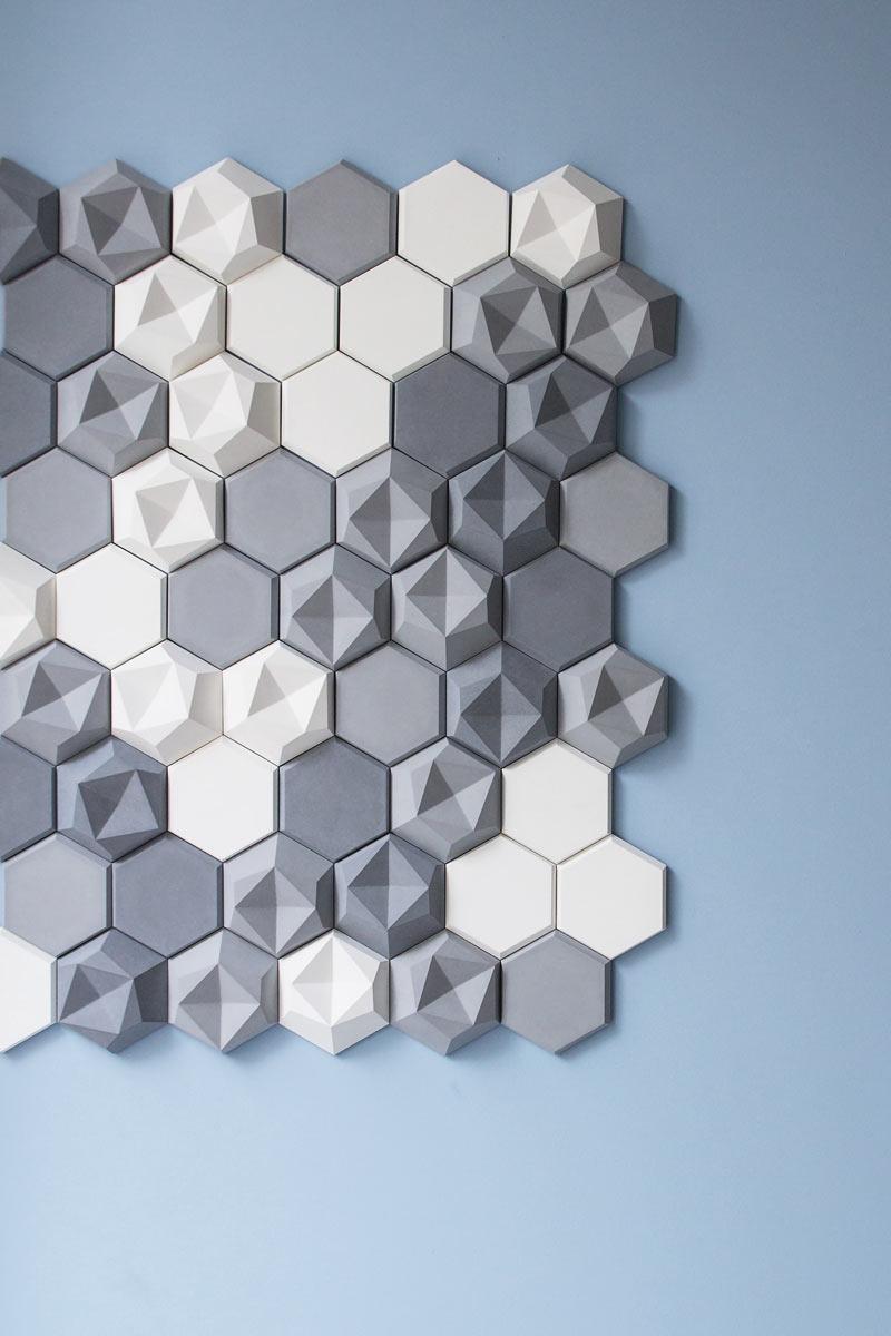 carrelage hexagonal 3d
