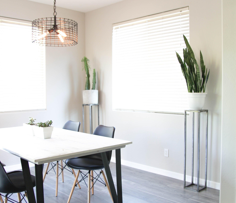 console pour plantes deco minimaliste