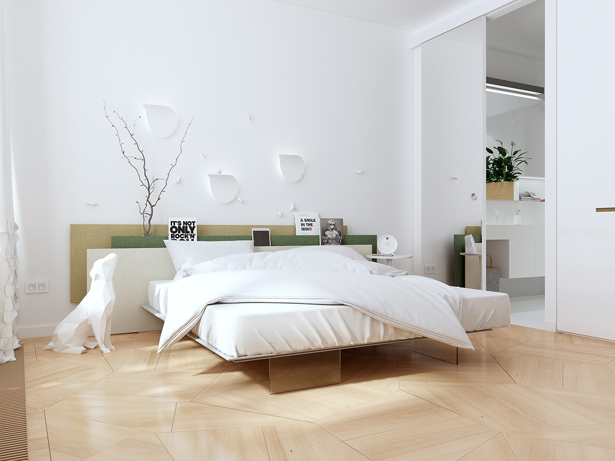 decoration epuree chambre minimaliste