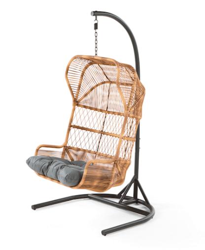decoration jardin fauteuil suspendu