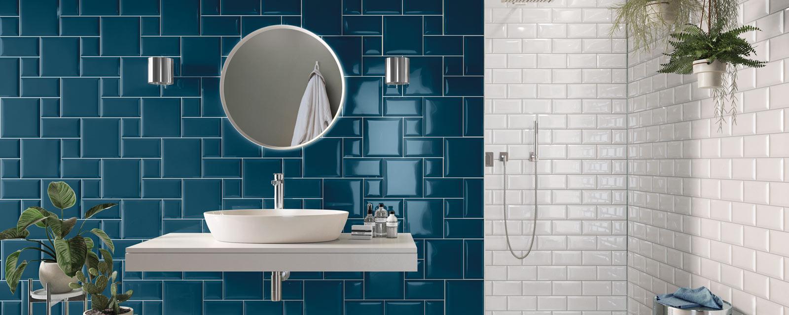 forme carrelage original salle de bain