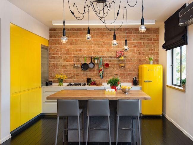 idee decoration cuisine jaune couleur