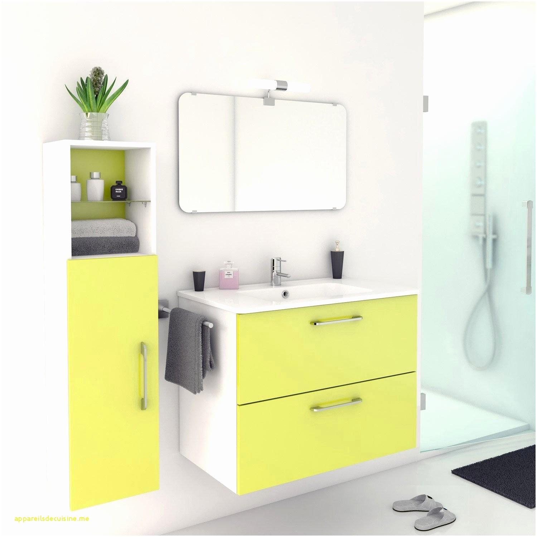 meuble de salle de bain couleur jaune