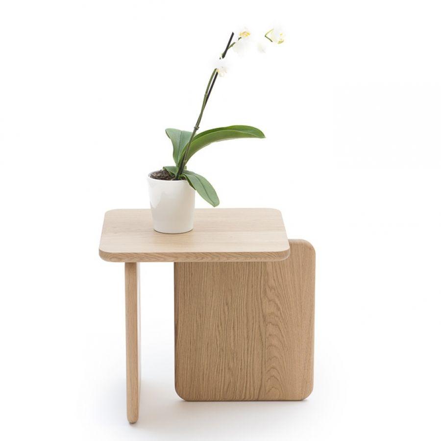 petit gueridon deco design minimaliste bois