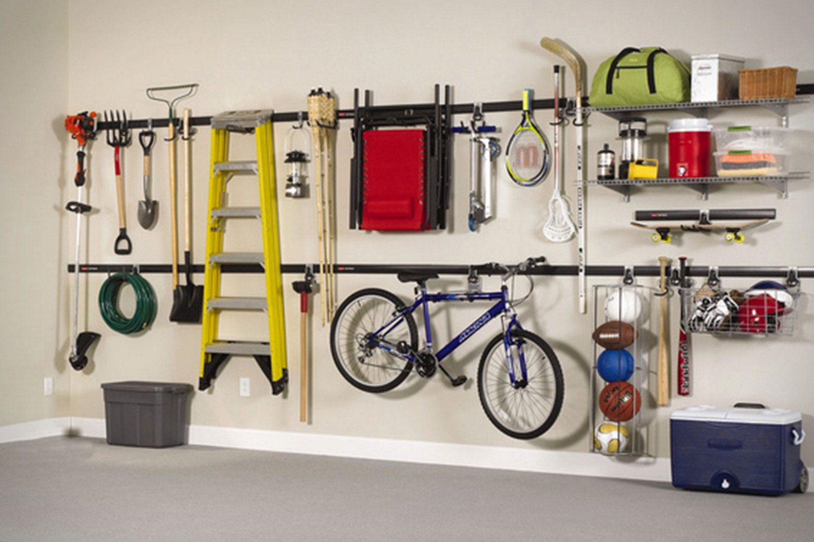 amenagement garage idee rangement mural