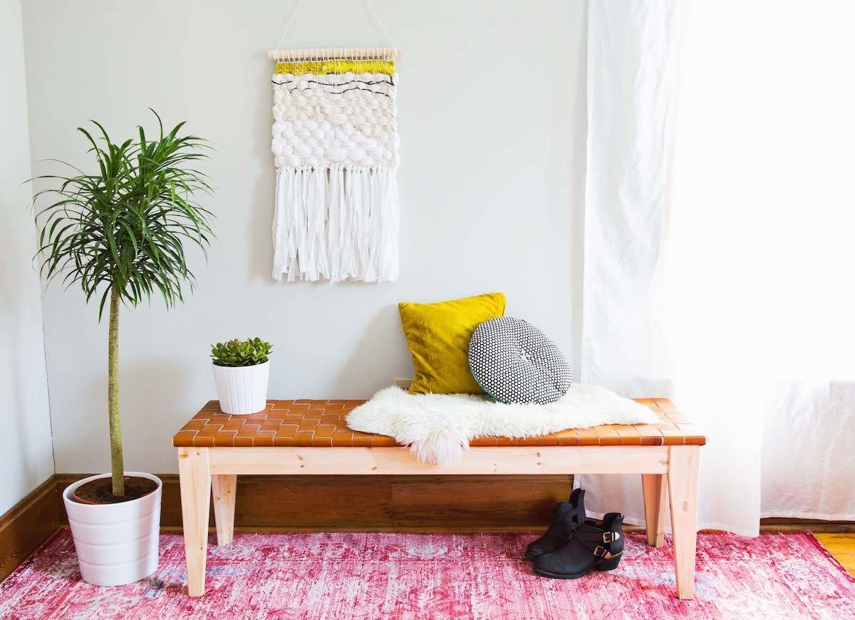 banc entree decoration tapis