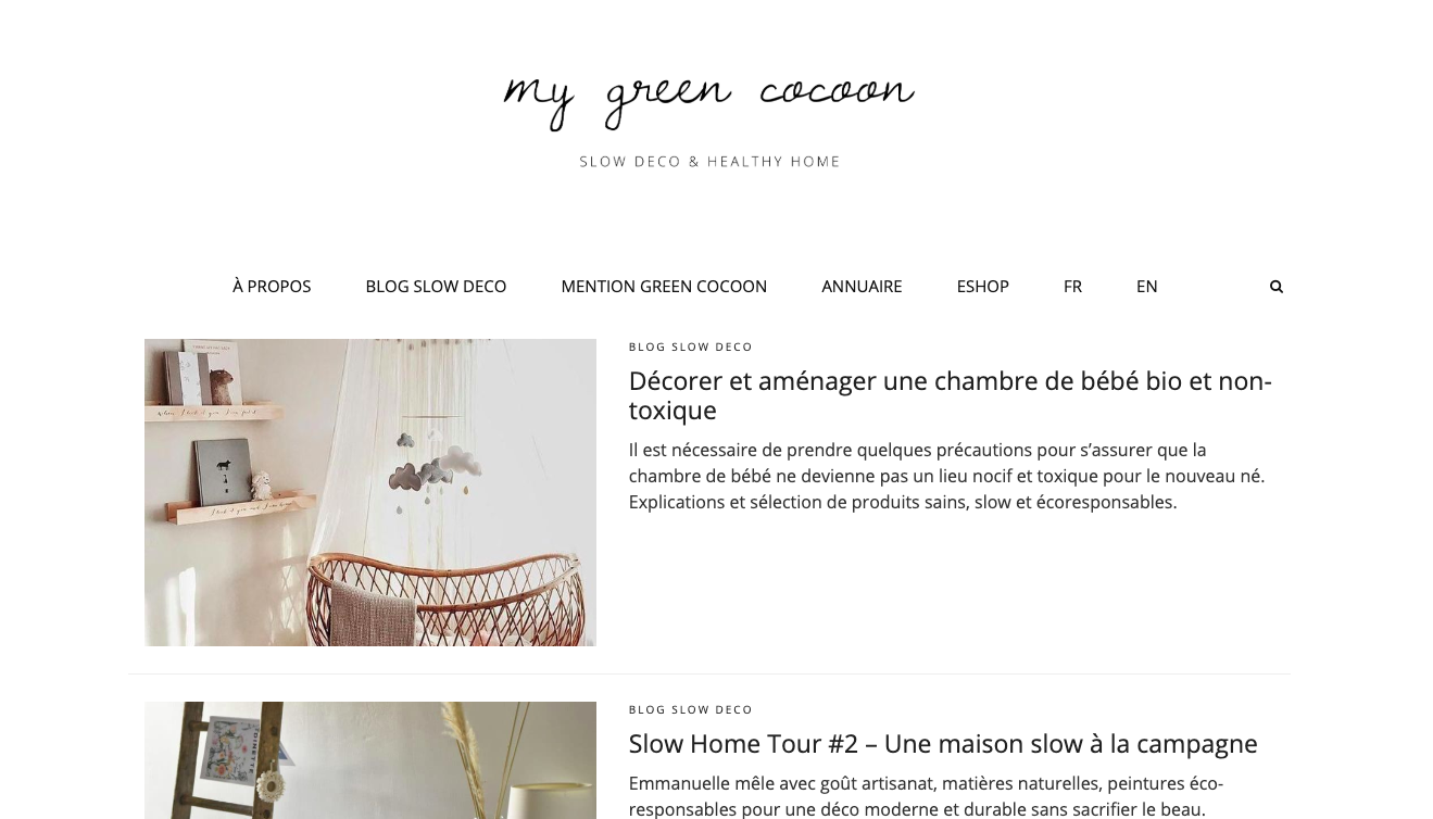 blog slow my green cocoon decoration