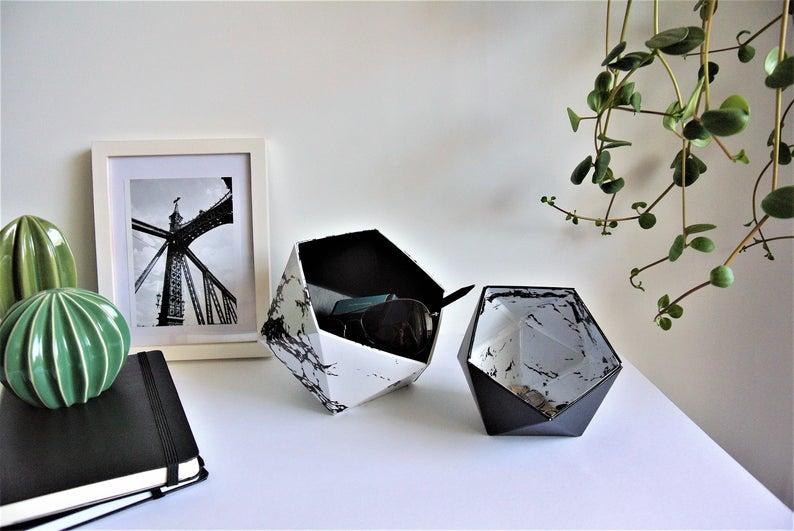 boite origami deco marbre