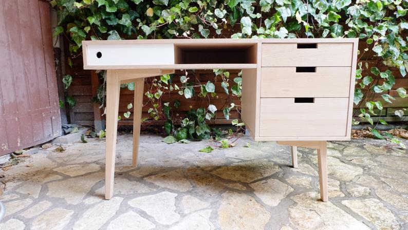 bureau scandinave decoration fait main