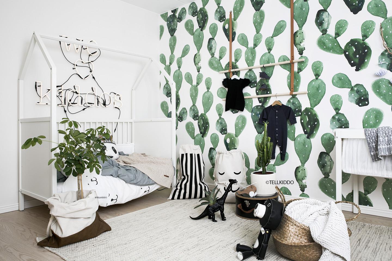 chambre bebe tendance jungle cactus
