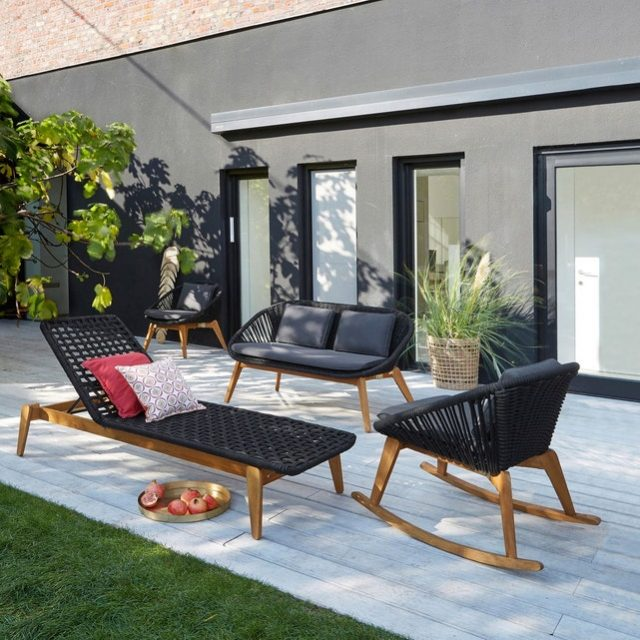 deco jardin bain de soleil armature boit design
